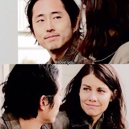 Maggie & Glenn ~ look how they look at each other! Love these two!