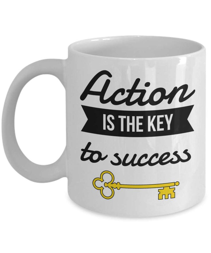 Take Action Mug, Success Mug, Action Coffee mug, Success Quote Mug, Action is Key to Success Mug, Action is Key mug, Inspiration Coffee Mug, by BearHugBoutique on Etsy