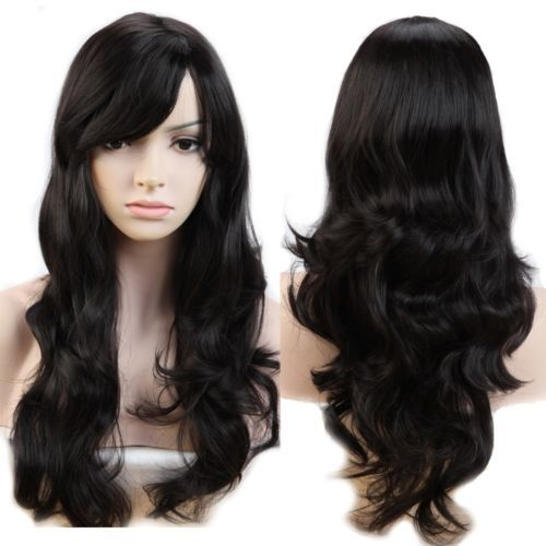 100-Thick-Women-Natural-Hair-Wig-Long-Straight-Curly-Cosplay-Synthetic-Full-Wig