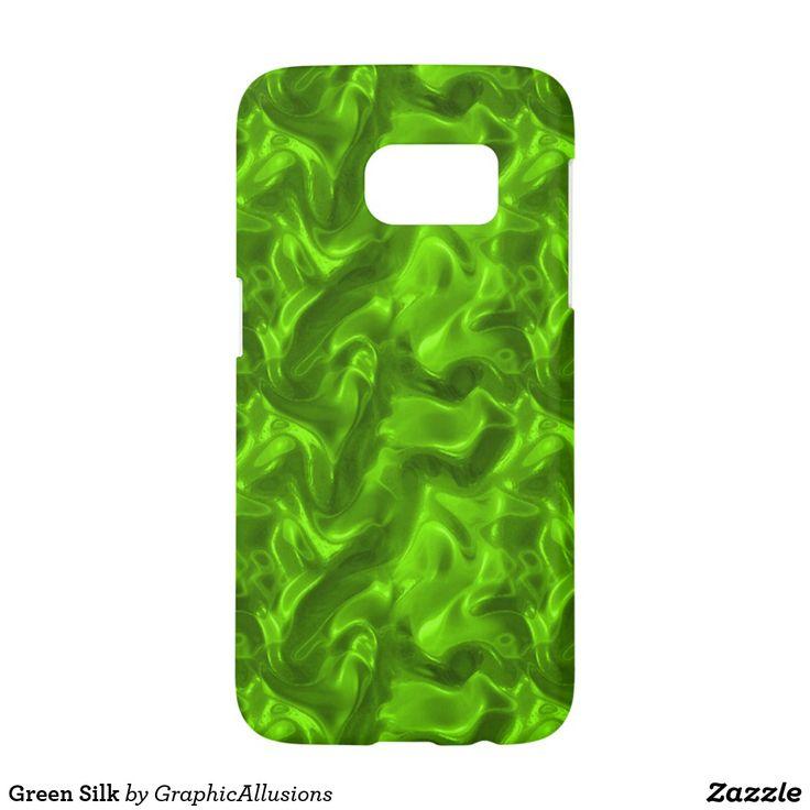 Green Silk Samsung Galaxy S7 Case