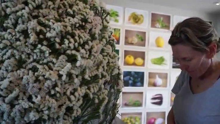 Russian River Flower School in Healdsburg, CA creates a giant Easter egg with flowers. Watch to learn how! www.russianriverflowerschool.com