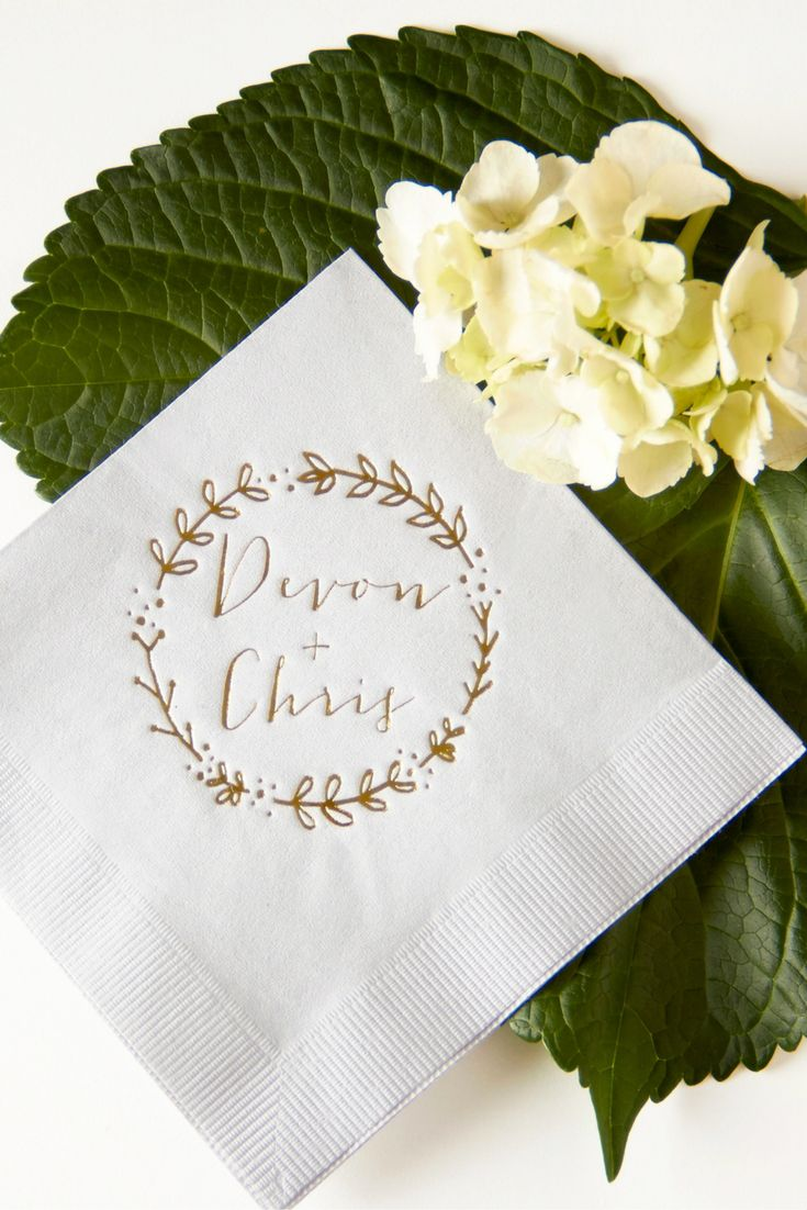 Custom Cocktail napkins by FYP