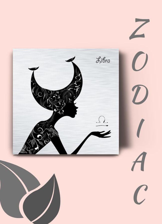 Zodiac Art Libra Artwork Metal Wall Art Libra Silhouette Etsy Libra Art Zodiac Art Capricorn Art