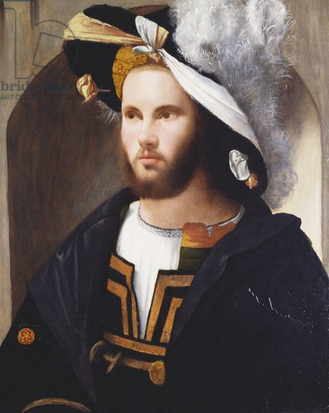 Portrait of a man, c.1515-17 (oil on panel)