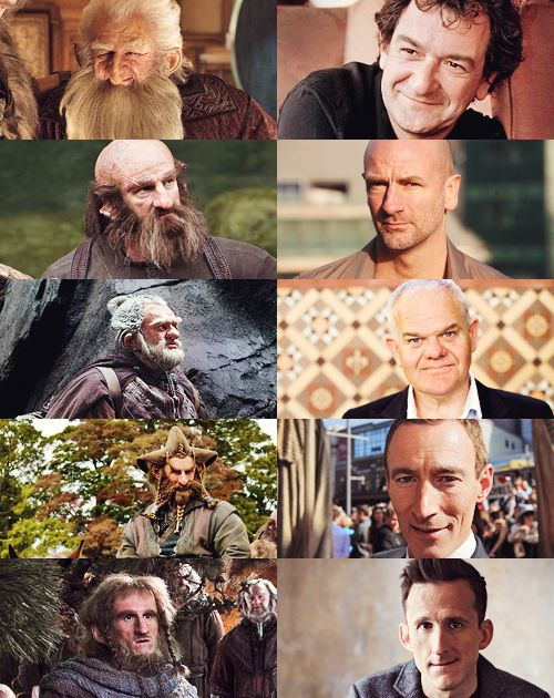 The cast of a fantastic movie as The Hobbit - frodo baggins gandalf bilbo baggins fili kili oin dwalin gloin balin bifur bombur bofur nori ori thorin oakenshield Gollum legolas galadriel elrond Saruman bard Thranduil the desolation of smaug radagast tauriel beorn