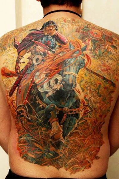 25 best ideas about warrior tattoos on pinterest for Back mural tattoo designs