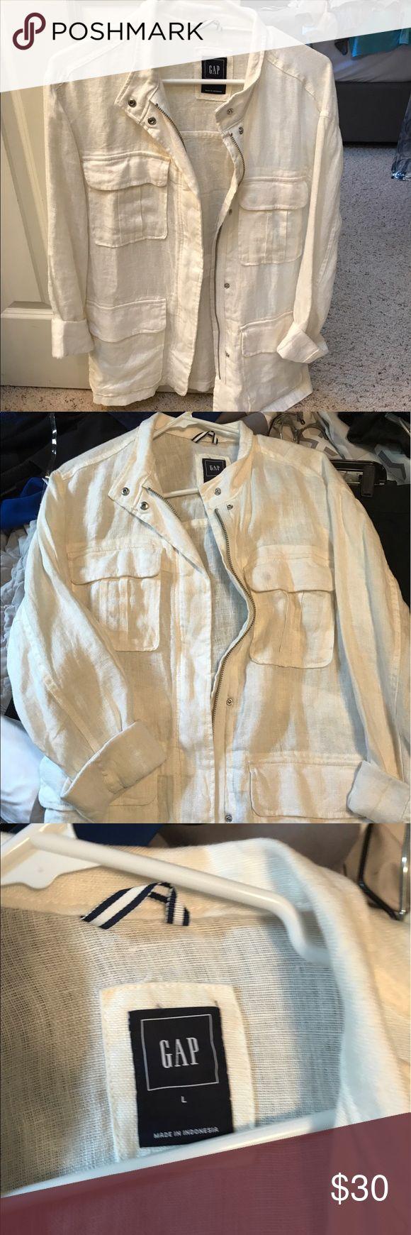 Linen Gap jacket Worn maybe two times. GAP Jackets & Coats Blazers