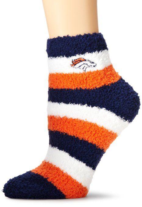 NFL Denver Broncos Women's Fuzzy Sleep Socks