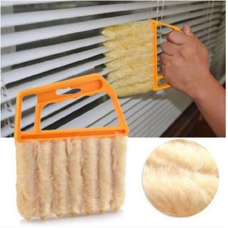 1pcs Microfibre Venetian Blind Cleaning Brush Window Leaves Air Conditioner Vents Cleaner Duster Computer Clean Tools #Affiliate