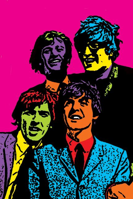 The Beatles in colour by calico-skies-1985.deviantart.com