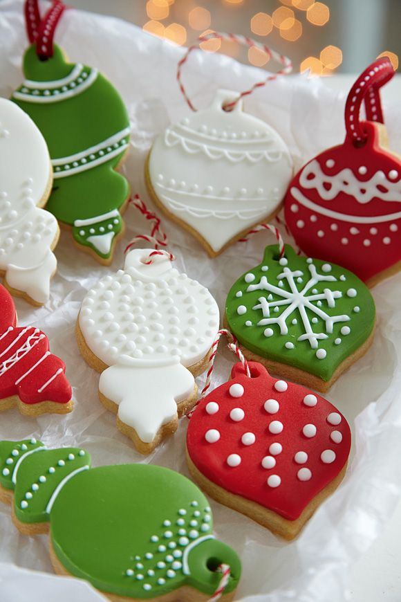 Almond cookies recipe; bauble cookie cutters by Peggy Porschen
