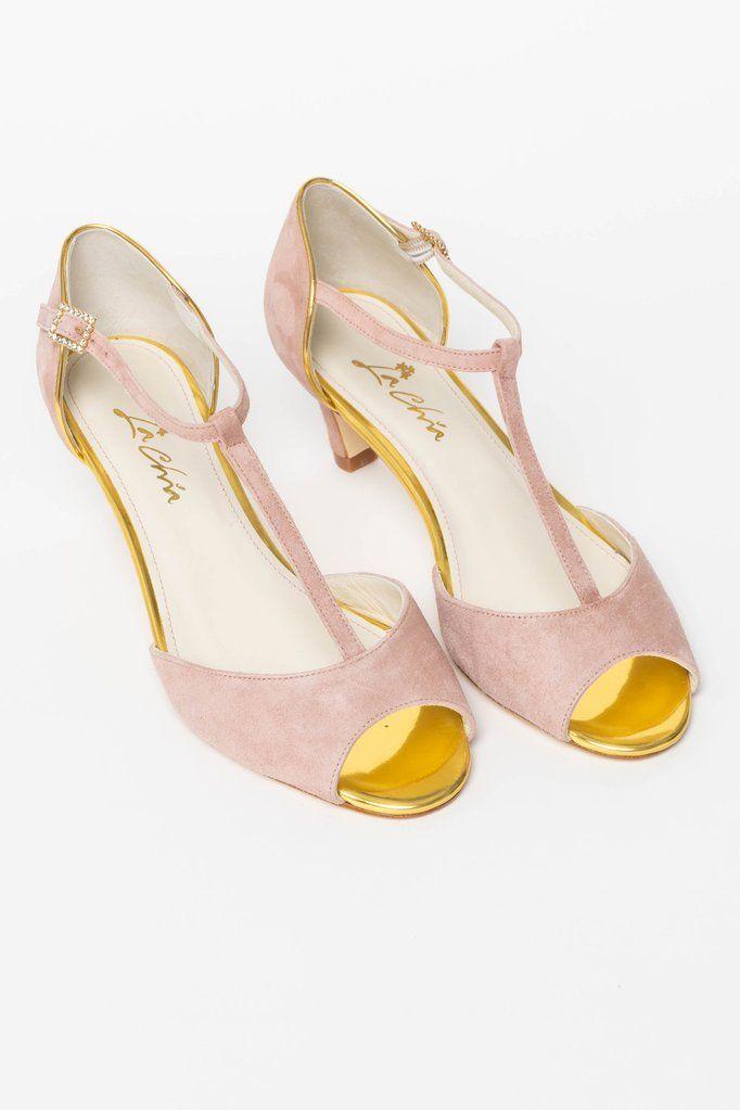 Braut Peeptoes Hochzeitsschuhe In Altrosa Und Gold Madrid Hochzeitsschuhe Schuhe Hochzeit Brautschuhe