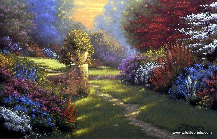 Paintings Of Cobblestone Paths : Best ideas about stone paths on pinterest path