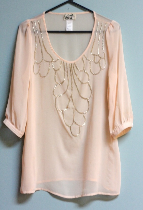 Copious: light pink blouse w/ leggings or skinny jeans, pumps, flats or  boots!