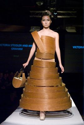 V. Steidler & A. Graham, wooden dress