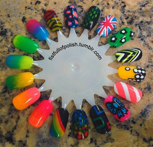 19 best nail art wheels displays images on pinterest nail art neon art wheel by chele nail art gallery nailartgalleryilsmag by nails prinsesfo Images