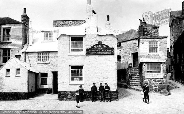 The Sloop Inn, St Ives, Cornwall 1906.