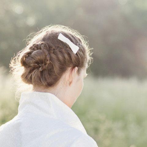 noni - Schleife fürs Haar, für die Brautfrisur in ivory.