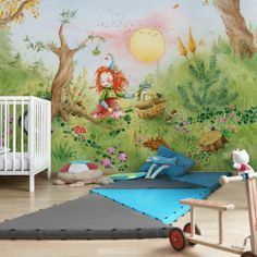 Blickfang fürs Kinderzimmer Vliestapete