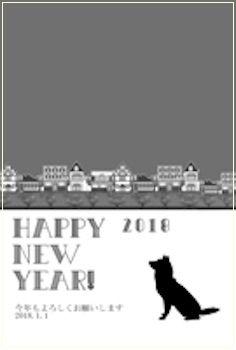 【年賀状写真フレーム】おしゃれな無料シンプル素材まとめ!2018犬デザインテンプレート!