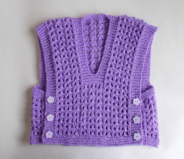 Ravelry: Melika Lacy Baby Vest Top pattern by marianna mel