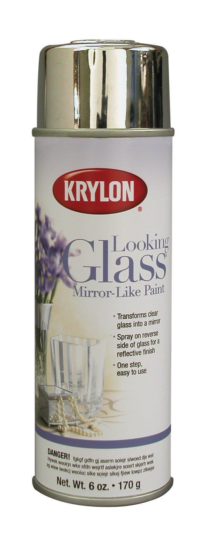 Krylon Looking Glass Mirror Like Aerosol Spray Paint; spray on reverse side of clear glass for a reflective finish