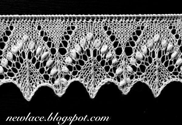 Og er er en ½-mio. andre fede mønstre, derinde... New lace - old traditions: 22. Edge lace Silvia