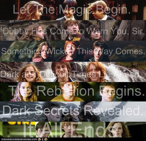 Harry, Ron, and Hermione Through the Years and Taglines