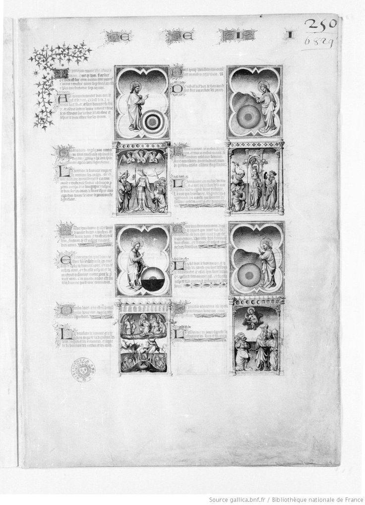 Titre : Bible moralisée, texte latin avec la traduction, jusqu'à Isaïe. Date d'édition : 1301-1500 Date d'édition : 1301-1400 Type : manuscrit Français 166 NP