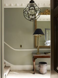 Modern Country Style: The Best Paint Colours For Small Hallways Click through for details. Farrow and Ball Pigeon
