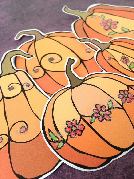 Glittered Pumpkins from the Pumpkin Patch