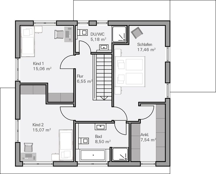 Grundriss einfamilienhaus modern gerade treppe  Die besten 25+ Haus pläne Ideen auf Pinterest | Haus grundrisse ...