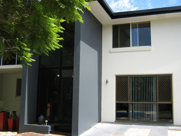 House after the render and painted.