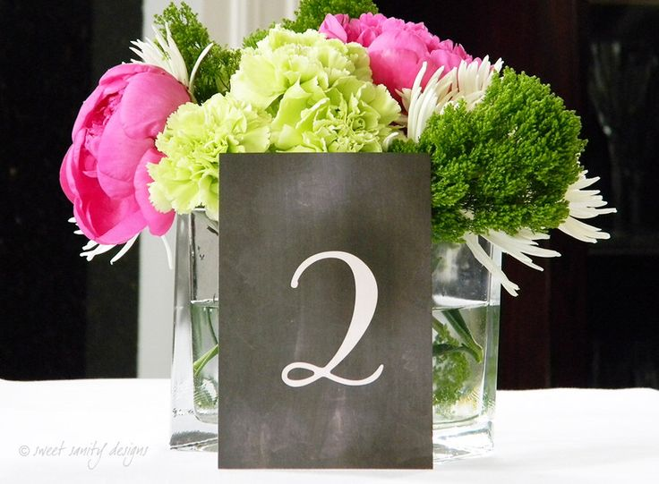 Wedding Table Numbers // Chalkboard Table Numbers by sweetsanity on Etsy https://www.etsy.com/listing/194298696/wedding-table-numbers-chalkboard-table