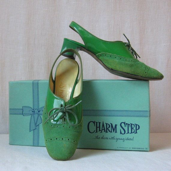 Mod Shoes Lime Green Shoes Sixties Shoes by ultravioletvintage