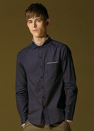 Allin Menswear Shirt-Dark Blue