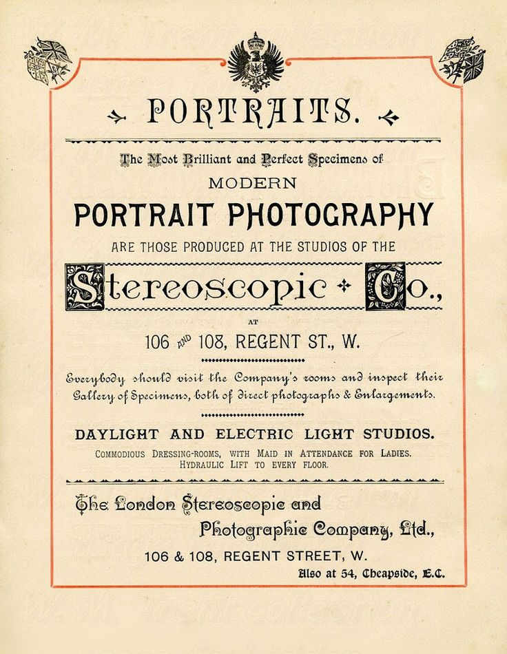 From London 1891 an advertisement for the London Stereoscopic and Photographic Co.