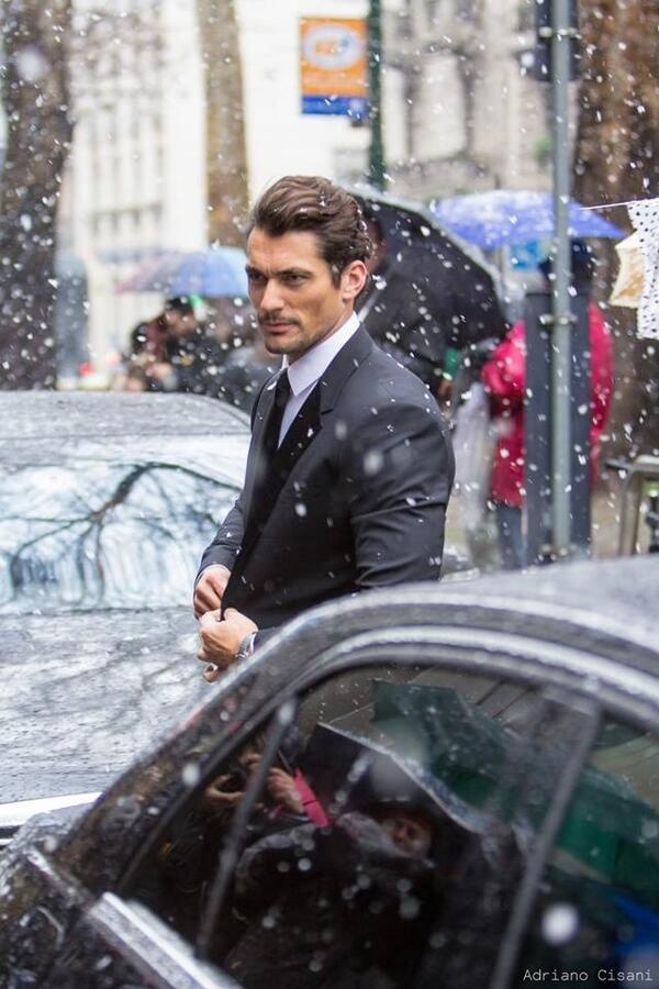 David Gandy....seriously? Only David Gandy could make me want it to snow!!!!