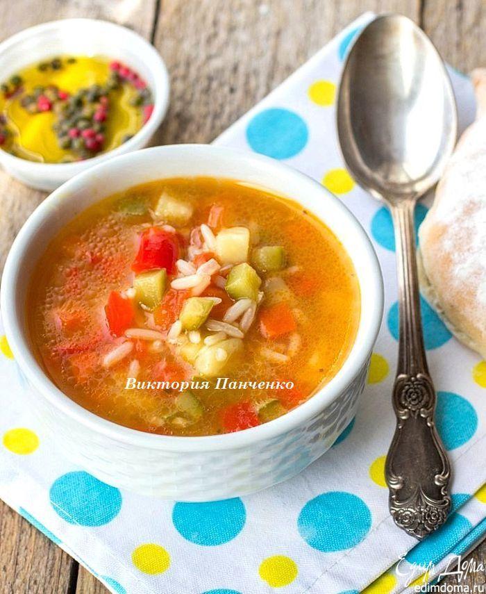 Минестроне с рисом | Кулинарные рецепты от «Едим дома!»