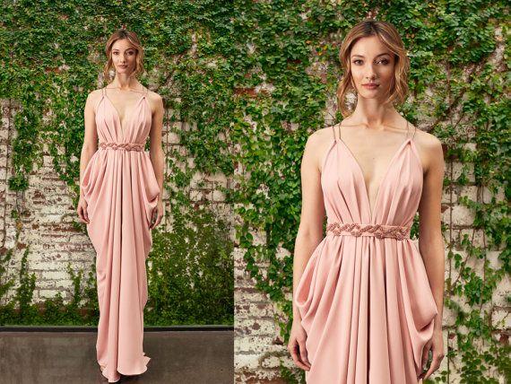 Blush Ball Gown Wedding Dress: 25+ Best Grecian Bridesmaid Dress Ideas On Pinterest