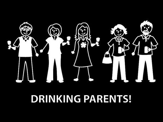Drinking parents / Adult stickers Customize your  Stick Family Car Decal ALTERNATIVE Families on Etsy, $4.95 CAD