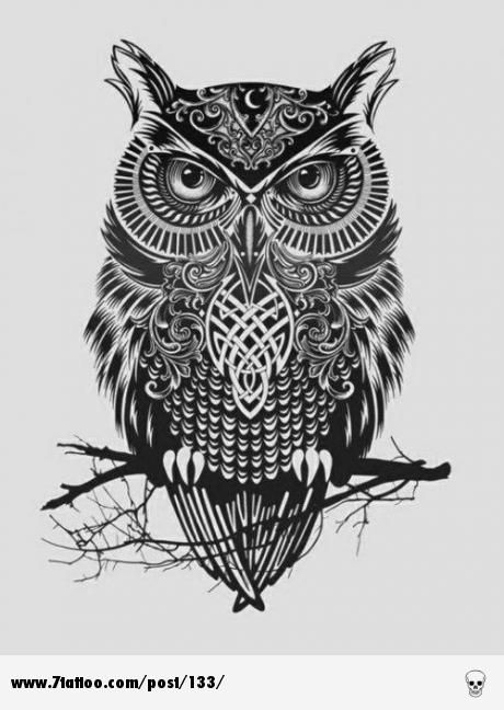Owl tattoo design...