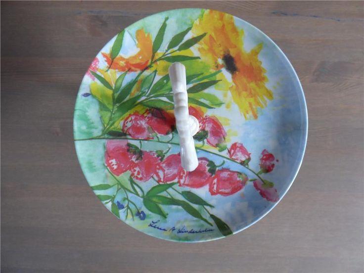 Kakfat i plast med blomstermotiv av Lena A Linderholm på Tradera.com -