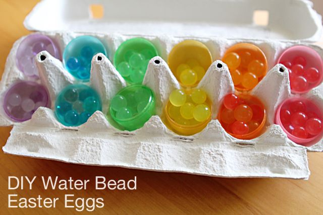 Easter egg treasures instead of candy!: Water Beads, Beads Easter, Waterbead Sensory, Easter Eggs, Sensory Plays, Easter Baskets Ideas, Easter Basket Ideas, Kid, Beads Eggs