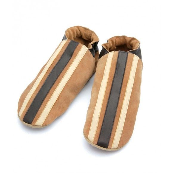 Twinstripe in Sand Leather / Suede Slippers For Men! Nice gift for him at christmas. Made in UK > http://www.madecloser.co.uk/clothes-accessories/footwear/triggerfish-twinstripe-sand-leather-shoe