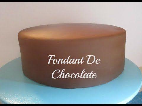Cómo Hacer Fondant De Chocolate y Cubrir El Pastel Muy Fácil! - Madelin's Cakes - YouTube
