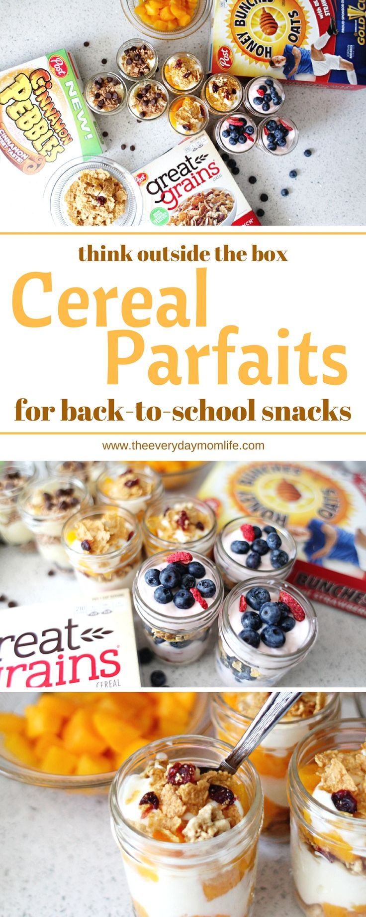 Think outside the cereal box for after school snacks. With back to school around the corner make sure you have a stockpile of cereal to make these delicious cereal parfaits for your kids to snack on! AD #StockUpWithPost #CerealAnytime #CollectiveBias