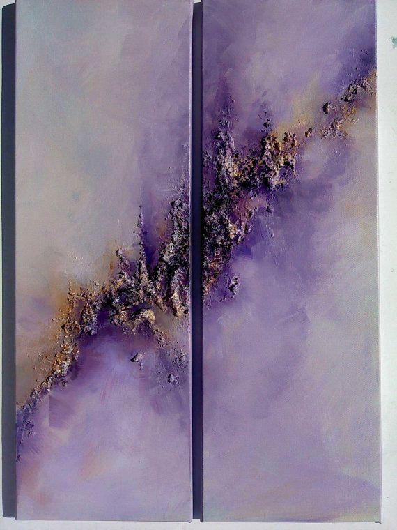 Paarse abstracte Sky kunst... Oorspronkelijke door COLORSofmyeARTh