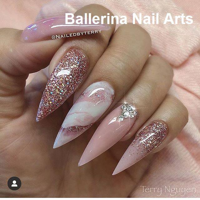 Beliebte Designs für Ballerina-Nägel #ballerinanail #nailartideas   – Nageldesign