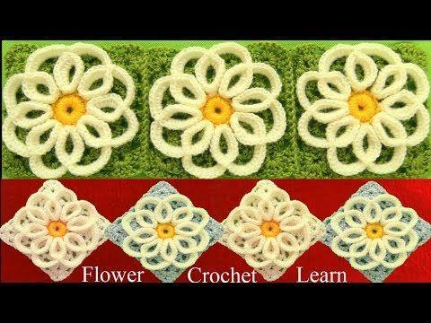 Como tejer a Crochet punto de flores filigrana tejido fácil How to Crochet - YouTube